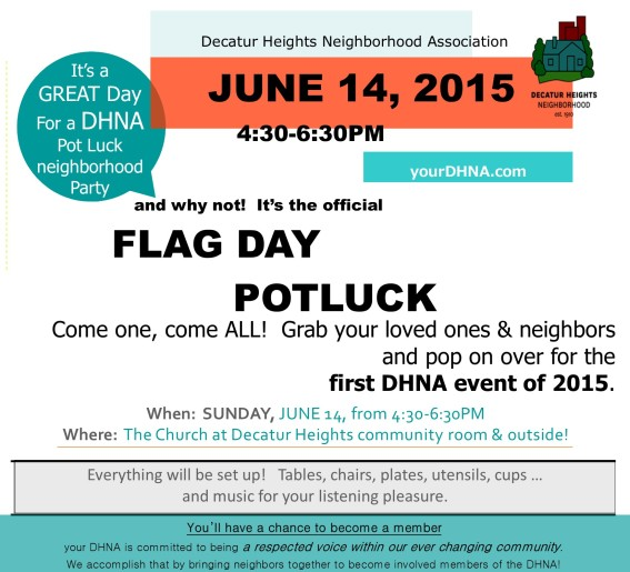 june 14 Pot Luck