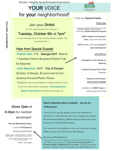 DHNA Meeting October 6th
