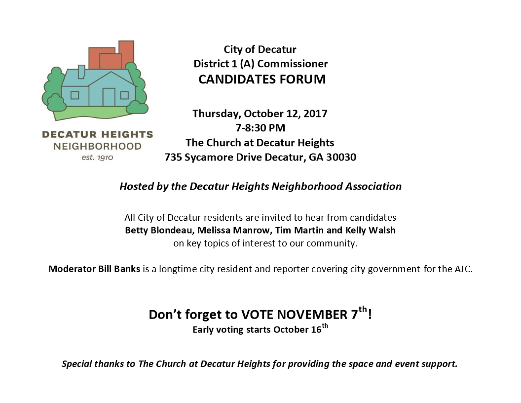 2017 District 1(A) Commissioner Candidates Forum